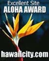 Aloha Award for an Excellent Site