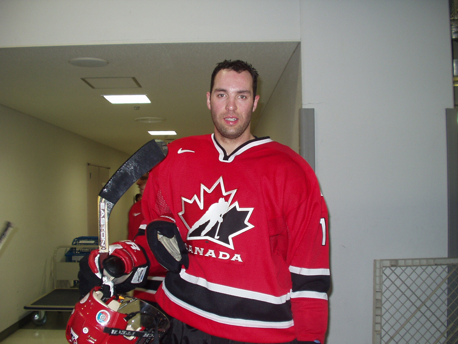 Joel in his Team Canada jersey