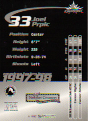 1997-98 Providence Bruins/Split Second.  Card #14. (Back)